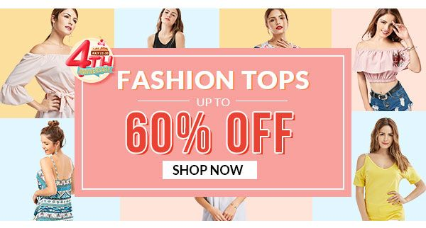 FASHION TOPS UP TO 60% OFF