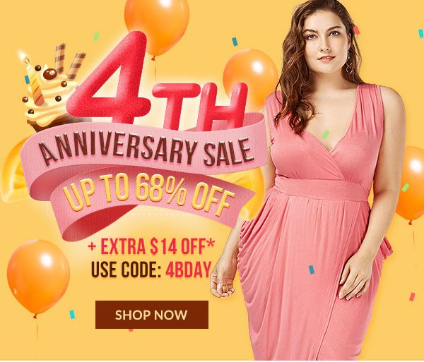 4TH ANNIVERSARY SALE up to 68% OFF