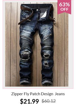 Zipper Fly Patch Design Jeans