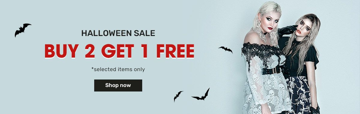 rosegal.com - Buy 2 Get 1 Free on Halloween Costumes