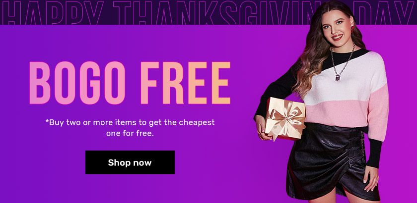 Rosegal - Buy 2 or more items Get Cheapest one for free Free on select products