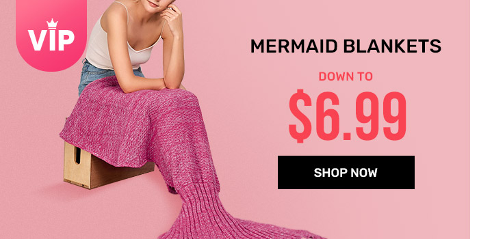 rosegal.com - Mermaid Blankets starting at just $6.99