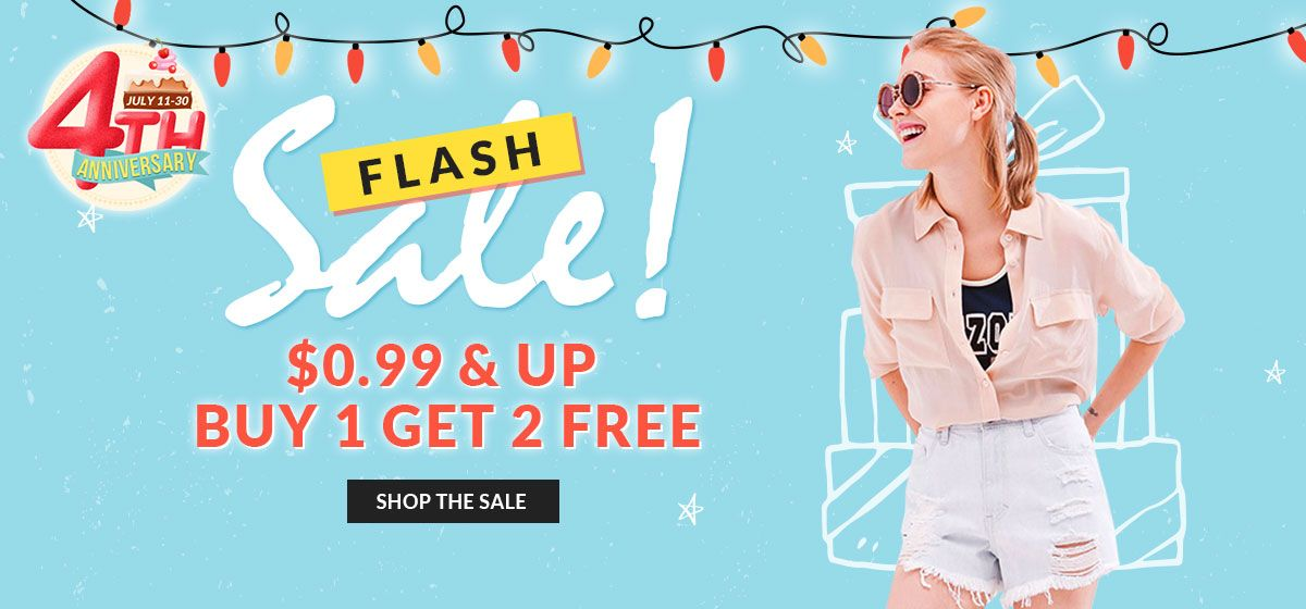 rosegal-Flash Sale 4th Anniversary