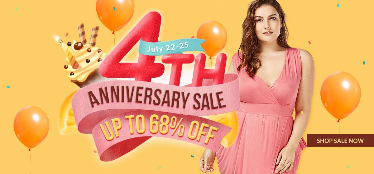 rosegal-Plus Size 4th Anniversary