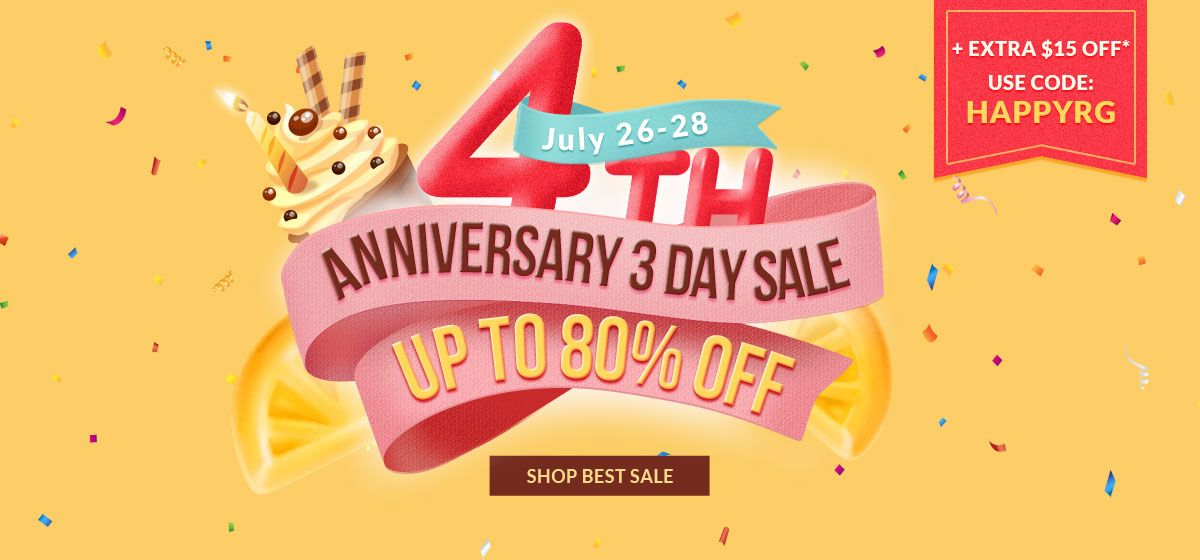 rosegal-4th Anniversary Best Sale