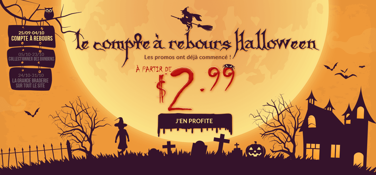rosegal-Le compte à rebours Halloween