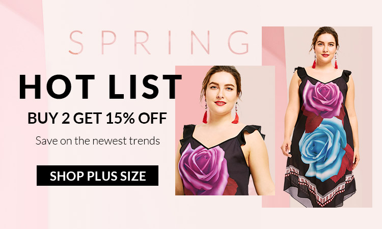 rosegal-Spring Hot List Buy 2 Get 15%