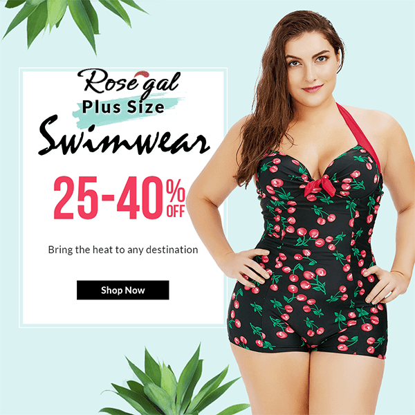 Rosegal Rosegal plus size swimwear