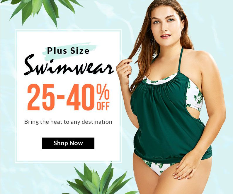rosegal-Plus Size Swimwear